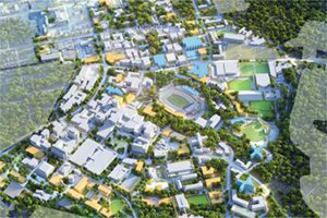 Aerial view of UNC Chapel Hill campus